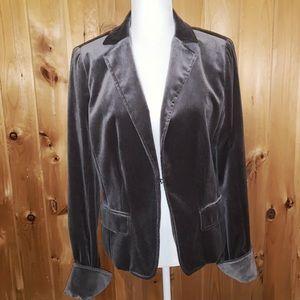 J. Crew gray velvet fully lined blazer size M